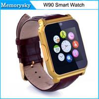 W90 Montre Montre conector conector Bluetooth elegante reloj de pulsera impermeable para Samsung LG W90 SmartWatch 010223