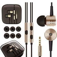 3.5mm Metal Xiaomi Écouteurs Casque universel Casque d'écouteur anti-bruit pour Xiaomi Samsung HTC Huawei LG SONY iphone 7 6s Téléphone
