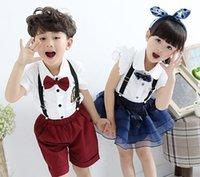 School Uniform Kids Uniforms Boys Clothes Girls Sets 2015 Su...