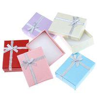 50pcs lot Cuboid Gift Box Bowknot Jewelry Bracelet Necklace ...