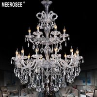 Large Staircase Chandeliers UK | Free UK Delivery on Large ...:Art Deco 20 ~ 25sq.m Bedroom Luxurious Large Crystal Chandelier Light 2  Tiers Clear Crystal Lighting Fixture Staircase Chandelier For Hotel Hanging  Lamp,Lighting