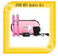 Evod kit de doble arranque cigarrillo electrónico MT3 atomizador Clearomizer batería 650mAh 900mAh 1100mAh EVOD Dual Kit de vapor de la pluma