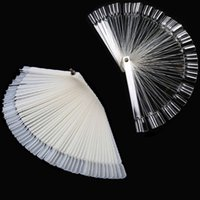 New- 50 tips Fan- Shaped Nail Art Display Natural Chart for Po...