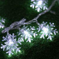 20LED светодиод Снежинка Водонепроницаемые строки свет Батарея энергии пузырь шар лампы Рождество Свадьба Праздник Рождества Декоративные лампы