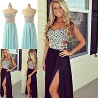 2015 Long Prom Dresses Beaded Prom Dresses Sexy Cut Out Top ...