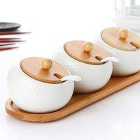 European and American Style Ceramic Salt Shaker Kitchen Supp...