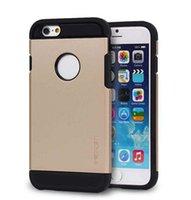 Delgado Armor Case TPU plástico cajas del teléfono celular Bolsas duros de la contraportada para el iPhone 6 4.7 para iPhone 5 5s