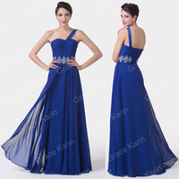 Grace Karin One Shoulder Long Formal Lady Homecoming Dresses...