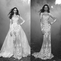 2016 Long Sleeves Wedding Dresses Bateau Neckline Zuhair Mur...