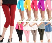 2015 candy color large size ladies style ice silk pant leggi...