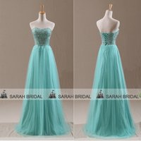 2015 Mint Green Prom Dresses Fashion Sweetheart Neckline Cry...