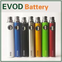 650mAh batteries ecig 900mah de 1100mAh Evod batterie Evod batteries rechargeables Vaporisateur pour h2 MT3 CE4 ego cigarette électronique cigarette électronique