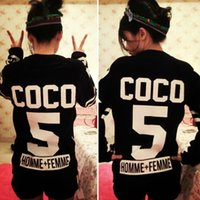 hot sell Women' s Men' s Tops Coco No 5 Sweatshirt U...