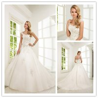 Princess Ball Gown Wedding Dresses Applique and Sequins 2015...