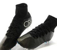 2014 New Ronaldo Black Boots, Football boots, Soccer Cleats , B...