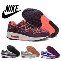 Nike air Max 1 leopard floral shoes women 2016 classic outdo...