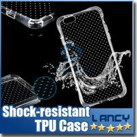 Pour iPhone 6 / 6plus Airbag Design Housse de téléphone souple TPU Shock-resisdant Transparent Coussin d'air de protection Drop Cover Manche