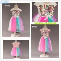 Summer Girls Frozen gauze dress 2015 new Frozen fever colorf...
