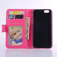 Photo Frame Wallet Credit ID Card Horizontal Flip Leather Ca...