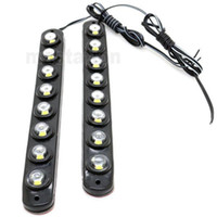 One Pair 8 LED Universal Aluminium 8LED 16W Car Daytime Runn...
