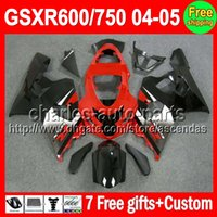 Factory red 7gifts+ Cowl For SUZUKI GSXR600 750 K4 04- 05 GSXR...