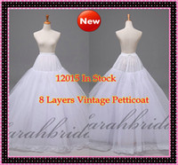In Stock Cheap Bridal Petticoats 8 Layer Hoopless Ball Gown ...