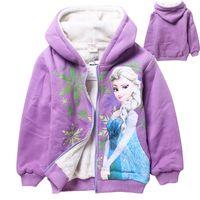 New Arrivals Childen Winter Hoodies Frozen Girls Elsa Anna W...