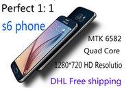 5. 1 inch S6 Quad Core MTK6582 Unlock Phone 1: 1 s6 G9200 Smar...