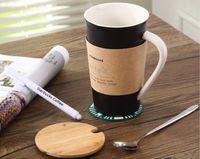 wholesale High Quality Starbucks ceramic coffee cup, black a...