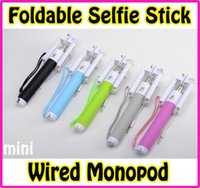 NEW Mini Monopod Foldable Extendable Camera Handheld Wired S...