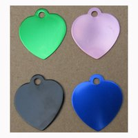 200pieces lot Heart Shape Aluminum Dog Pet Cat ID Tags Laser...