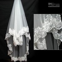 2015 Wedding Veil Best Selling High Quality Lace Edge Single...