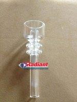 100% Quartz clous sans dents 14mm 18mm Fabricant bubbler de rechange Classe médicale sans dents direct injecter élément pour tuyau d'eau
