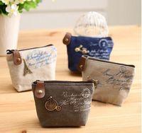 2 015 Новый Женская сумка холст монет ключи брелок бумажник карманные кошелек держатель организовать косметические макияж сортировщик 13090