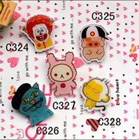 10 different style hotsale popular acrylic catoon animal pig...