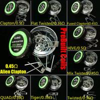 Alien Fused Clapton plat Mix Twisted Hive Quad Tiger 9 Types Pré Construire fils Bobines Résistance chauffage vapeur RDA des atomiseurs préfabriqués