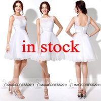 2015 Cute White Little Homecoming Dresses Short Party Dress ...