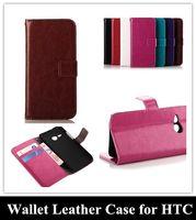 Venta al por mayor del teléfono móvil de la PU del tirón del cuero de la cubierta del caso para HTC uno M8 / M8 Mini / M7 / M4 / Desire 310 para Huawei Ascend Y530 P7