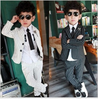 Boy Outfits 2015 Autumn Boys Suits British Style Kids Vertic...