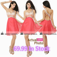 In Stock Prom Dresses Cheap 2015 Sheer One Shoulder Strap Bl...