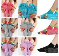 Hot Anti skid yoga socks Top quality 5 Toes Fitness Cotton S...