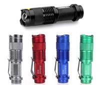 5 colores de luz de flash 300LM CREE Q5 LED linterna que acampa Antorcha foco ajustable de zoom linternas impermeables de la lámpara
