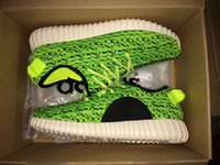 2016 New Mens Shoes Kanye West Yeezy 350 Boost pirate black ...