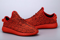 New Color Full Red 350 boost red October Low Shoes Fashion S...