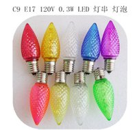 2015 LED bulb E17 120V 0. 3W C9 Christmas decorative lighting...