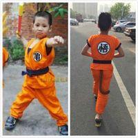 Аниме Dragon Ball Сон Гоку Косплей Dragon Ball Z Косплей одежда для детей ВС Укун костюм черепахи одежды с париком на складе