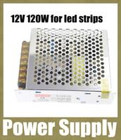 12v 10A 120W adaptateur chargeur d'alimentation en mode de commutation courant alternatif d'alimentation avec boîtier en aluminium pour 5050 led strip DHL Livraison gratuite DY020