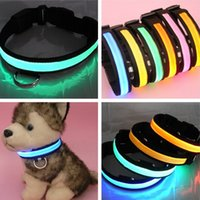 6colors LED intermitente collar de perro collar del animal doméstico del LED freeshipping collar / cat