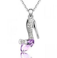 New Cartoon Movie figure cinderella pendant necklaces crysta...