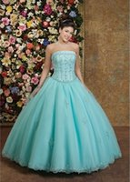 2015 Beautifully Strapless Appliques Beading bodice With Bal...